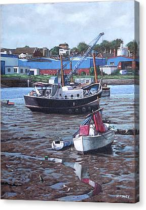 Southampton Northam Boats Canvas Print by Martin Davey