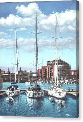 Southampton Ocean Village Marina Canvas Print by Martin Davey