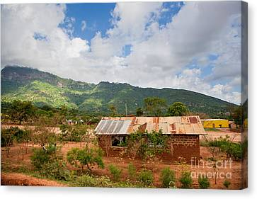 Southern Kenya Poverty Landscape Canvas Print by Michal Bednarek