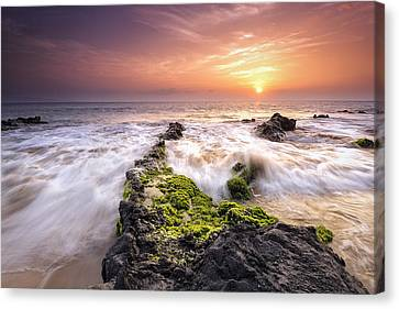 Southern Maui Sunset Canvas Print by Hawaii  Fine Art Photography