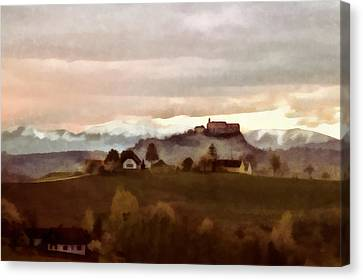 Southern Styria With Castle Riegersburg Canvas Print by Menega Sabidussi