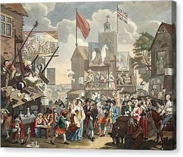 Southwark Fair, 1733, Illustration Canvas Print by William Hogarth