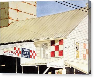 Southwestern Feed Canvas Print by Jim Gerkin