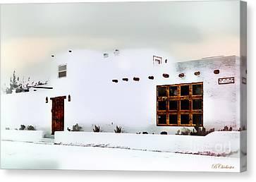 Southwestern Pueblo  Canvas Print by Barbara Chichester