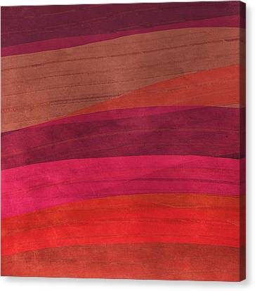 Southwestern Sunset Abstract Canvas Print by Bonnie Bruno