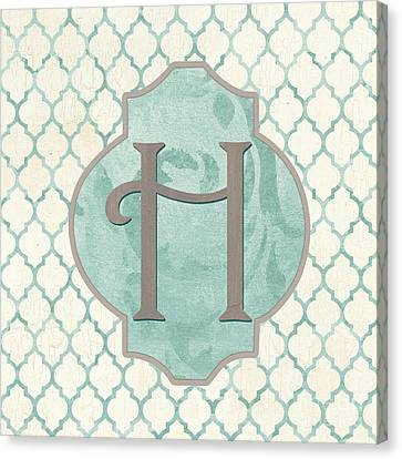 Spa Monogram Canvas Print by Debbie DeWitt
