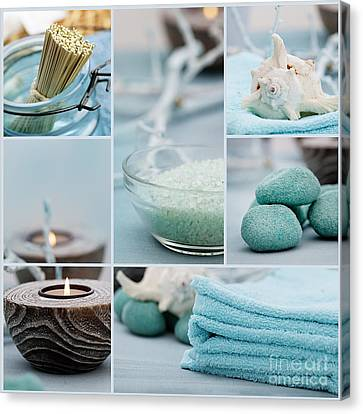Spa Purity Collage Canvas Print by Mythja  Photography