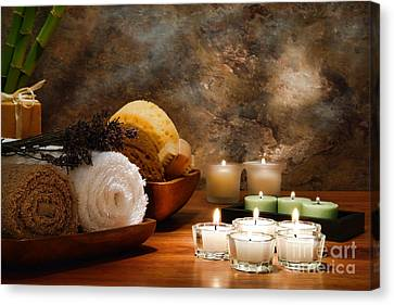Spa Treatment Canvas Print by Olivier Le Queinec