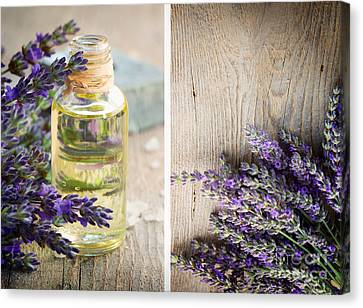 Spa With Lavender  Canvas Print by Mythja  Photography