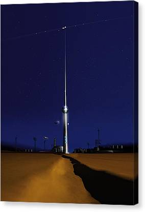 Space Elevator, Conceptual Image Canvas Print by Science Photo Library
