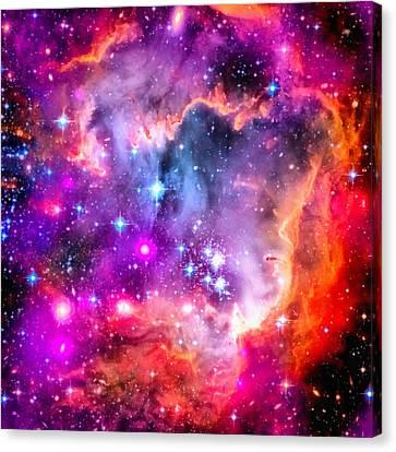 Space Image Small Magellanic Cloud Smc Galaxy Canvas Print by Matthias Hauser