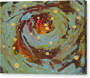 Space In Blues Canvas Print by Dotti Hannum