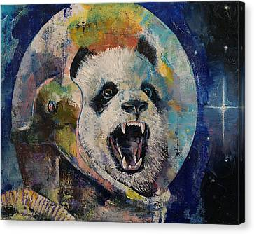 Space Panda Canvas Print by Michael Creese