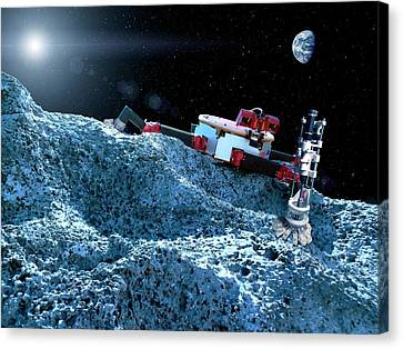 Space Rover With Microspine Grippers Canvas Print by Nasa/jpl-caltech