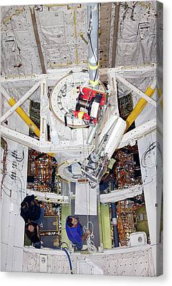 Space Shuttle Discovery Fuel Cell Canvas Print by Frankie Martin/nasa