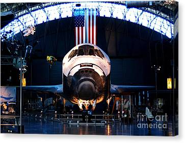 Space Shuttle Discovery Canvas Print by Patti Whitten
