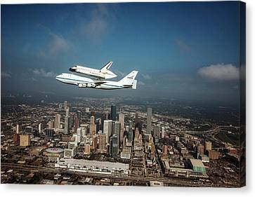 Space Shuttle Endeavour Piggyback Flight Canvas Print by Nasa/sheri Locke