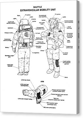 Space: Spacesuit, 1991 Canvas Print by Granger
