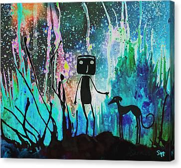 Space Walk Canvas Print by Sara Henry
