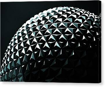 Spaceship Earth Canvas Print by Benjamin Yeager