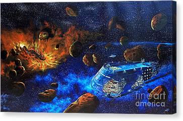 Spaceship Titanic Canvas Print by Murphy Elliott