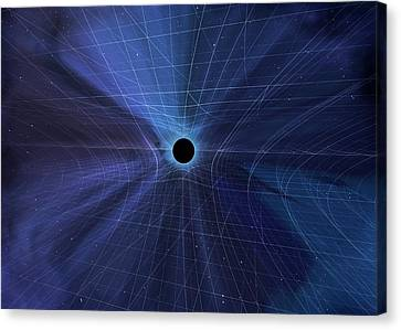Spacetime Warped By A Black Hole Canvas Print by Mark Garlick