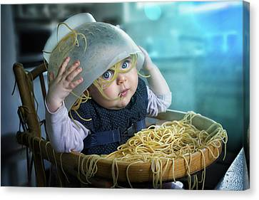 Spaghettitime Canvas Print by John Wilhelm