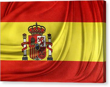 Spanish Flag Canvas Print by Les Cunliffe
