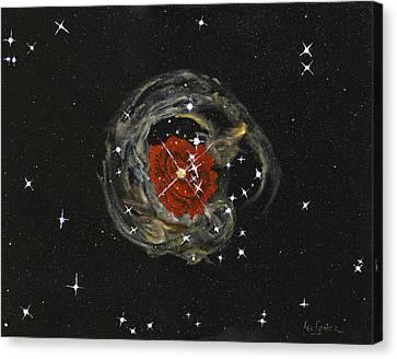 Sparkle Of A Rose  Canvas Print by Leo Gehrtz