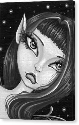 Sparkling Sky Fairy Canvas Print by Elaina  Wagner