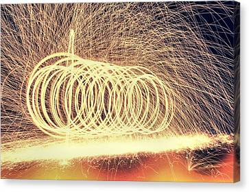 Sparks Canvas Print by Dan Sproul
