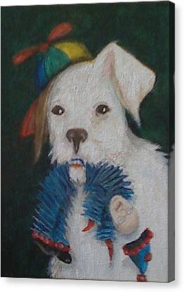 Sparky And Dick Canvas Print by Georgia Griffin