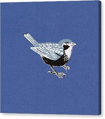 Sparrow, 2013 Woodcut Canvas Print by Nat Morley