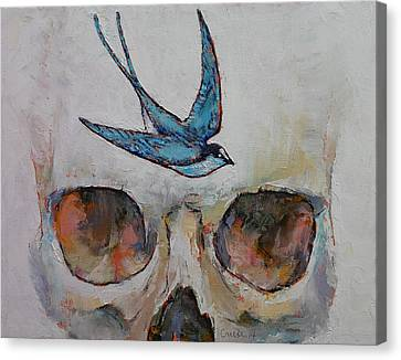 Sparrow Canvas Print by Michael Creese