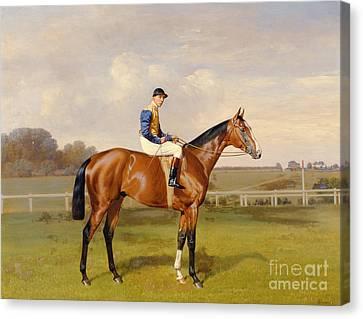 Spearmint Winner Of The 1906 Derby Canvas Print by Emil Adam