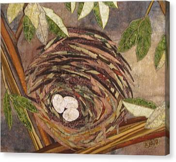 Speckled Eggs Canvas Print by Lynda K Boardman