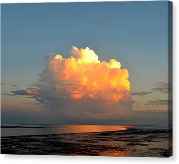 Spectacular Cloud In Sunset Sky Canvas Print by Carla Parris