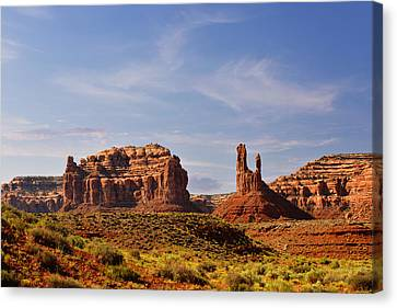 Spectacular Valley Of The Gods Canvas Print by Christine Till