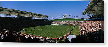 Spectators Watching A Soccer Match, Usa Canvas Print by Panoramic Images