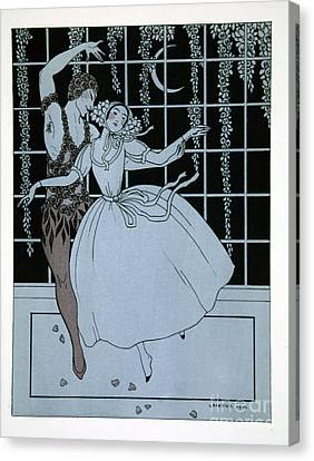 Spectre De La Rose Canvas Print by Georges Barbier