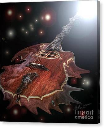 Speed Of Sound Digital Guitar Art By Steven Langston Canvas Print by Steven Lebron Langston