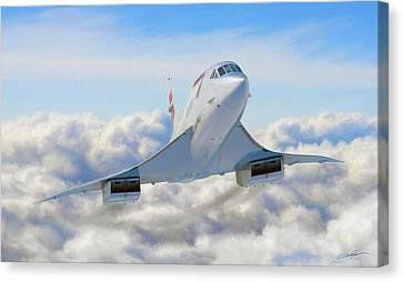 Speeding Above The Clouds Canvas Print by Dale Jackson
