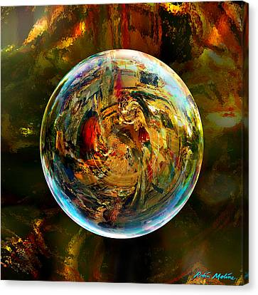 Sphere Of Refractions Canvas Print by Robin Moline