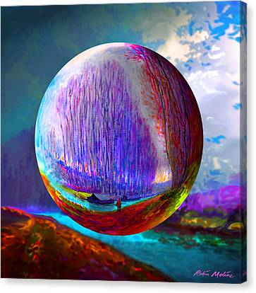 Sphering A Morning Effect Canvas Print by Robin Moline