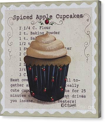 Spiced Apple Cupcake Canvas Print by Catherine Holman