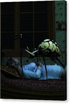 Spider Nightmare Canvas Print by Daniel Eskridge