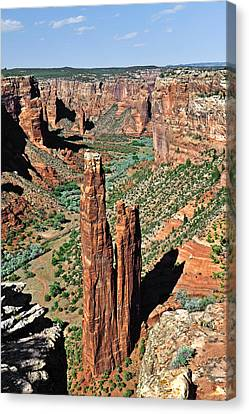 Spider Rock Canyon De Chelly Canvas Print by Christine Till