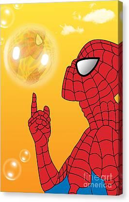 Spiderman 3 Canvas Print by Mark Ashkenazi