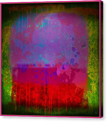 Spills And Drips Canvas Print by Gary Grayson