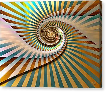 Spin Canvas Print by Manny Lorenzo